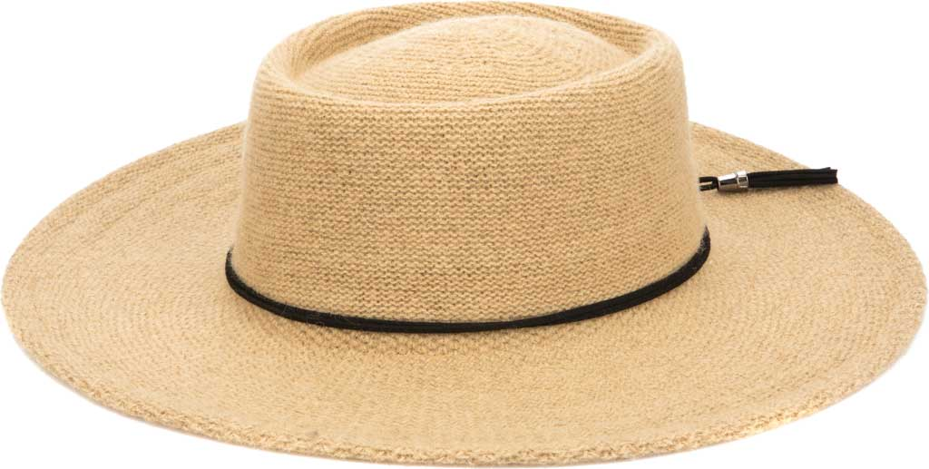 Women's San Diego Hat Company KNH2024 Wide Brim Hat, Camel, large, image 2