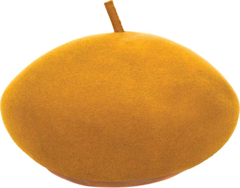 Women's San Diego Hat Company WFH8105 Beret, Mustard, large, image 2