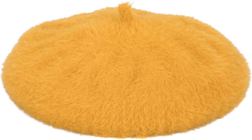 Women's San Diego Hat Company KNH2031 Beret, Mustard, large, image 1