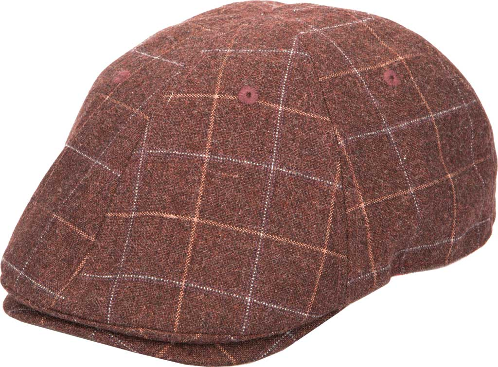 Men's San Diego Hat Company CTH9034 Newsboy Cap, Burgundy, large, image 1