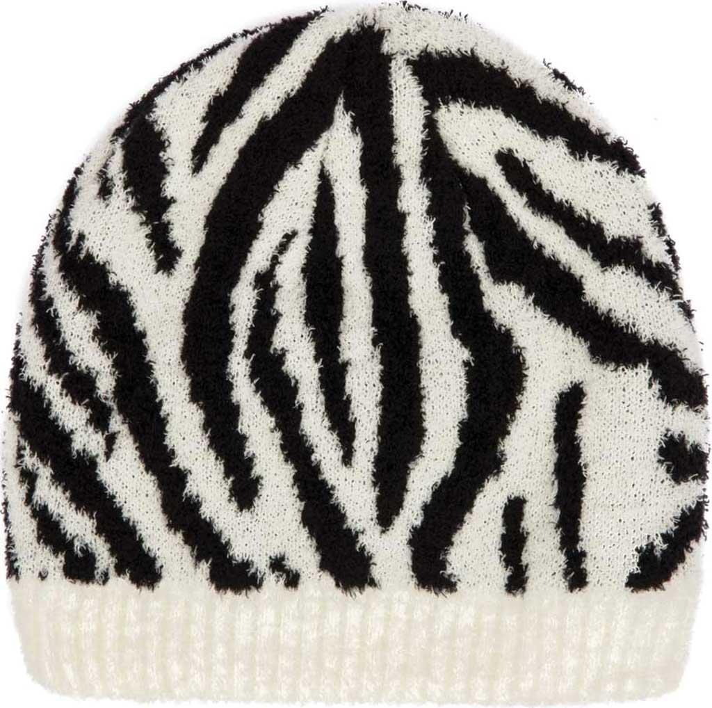 Women's San Diego Hat Company KNH2050 Beanie, Black/White, large, image 2