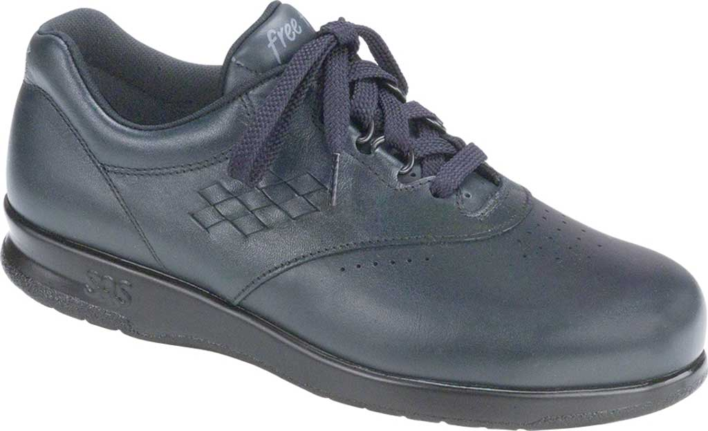 Women's SAS Free Time Sneaker, Navy Leather, large, image 1