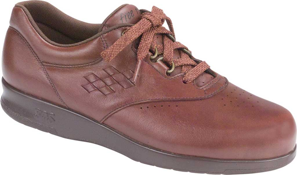 Women's SAS Free Time Sneaker, Teak Leather, large, image 1