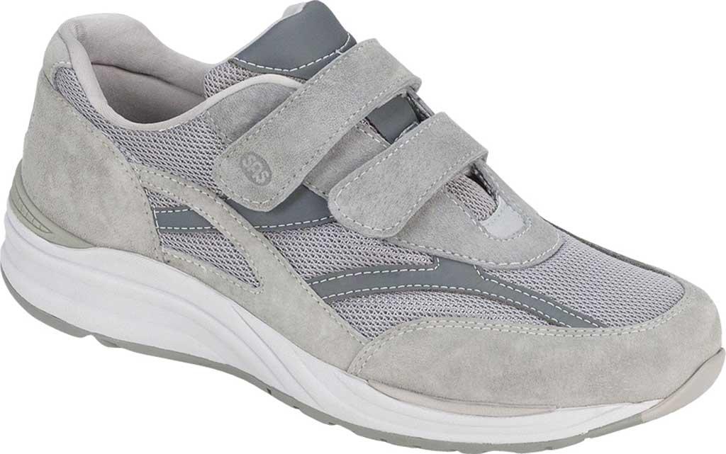 Men's SAS JV Hook and Loop Sneaker, Gray, large, image 1