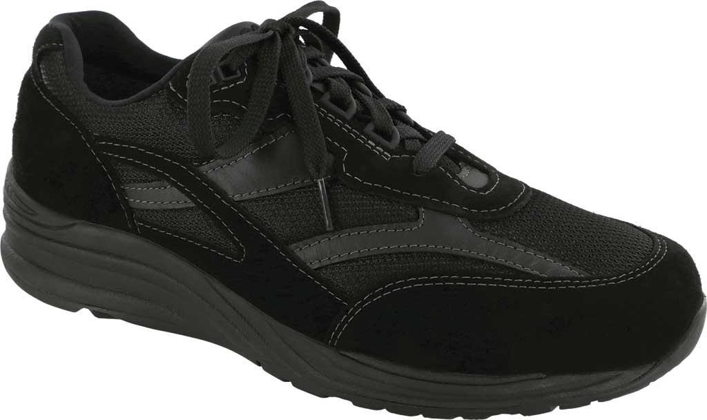 Men's SAS Journey Mesh Sneaker, Black Suede/Mesh, large, image 1