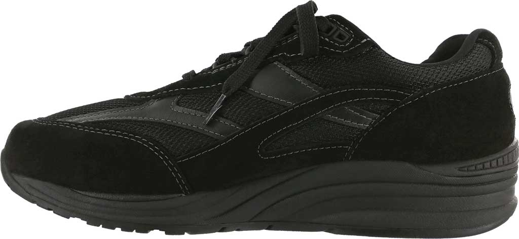Men's SAS Journey Mesh Sneaker, Black Suede/Mesh, large, image 2