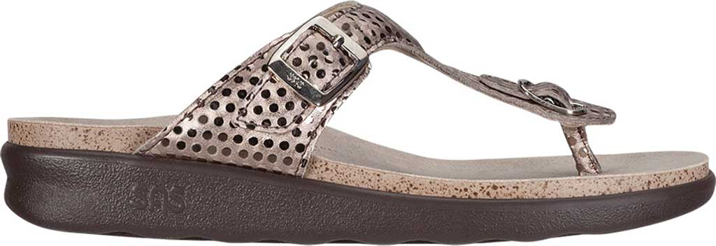 Women's SAS Sanibel Sandal, Oro Laminate Foil Leather, large, image 2
