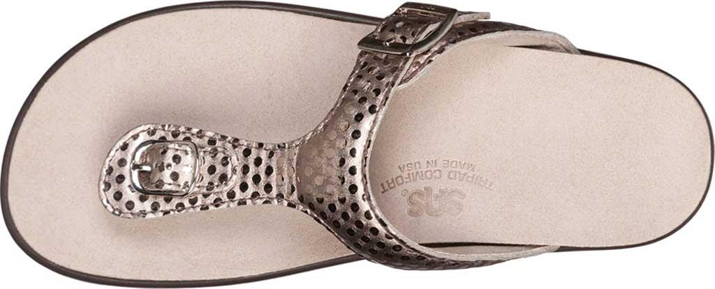 Women's SAS Sanibel Sandal, Oro Laminate Foil Leather, large, image 3