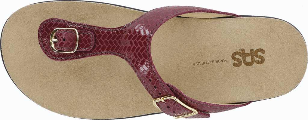 Women's SAS Sanibel Sandal, Oro Laminate Foil Leather, large, image 4