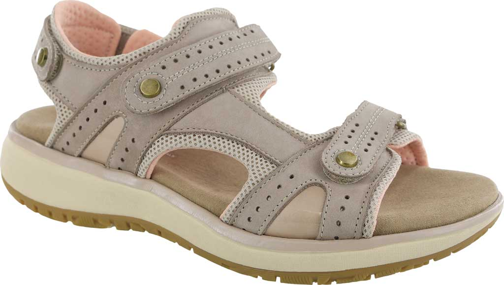 Women's SAS Embark Active Sandal, Taupe Leather, large, image 1