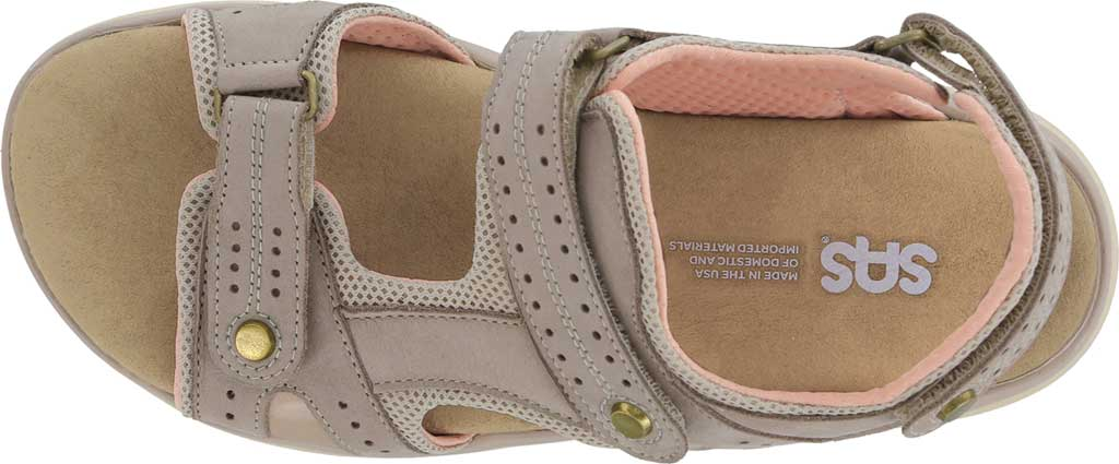 Women's SAS Embark Active Sandal, Taupe Leather, large, image 4