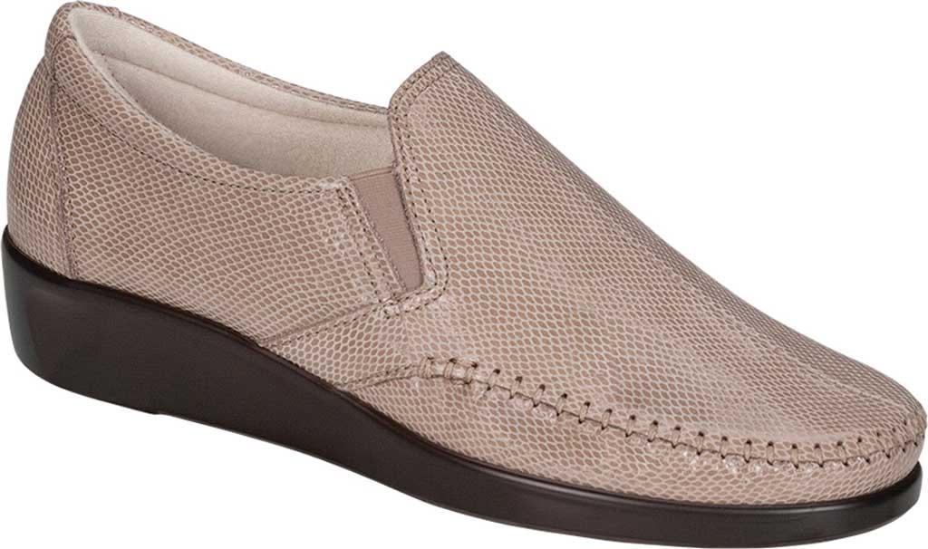 Women's SAS Dream Slip On Loafer, Mushroom Snake Leather, large, image 1
