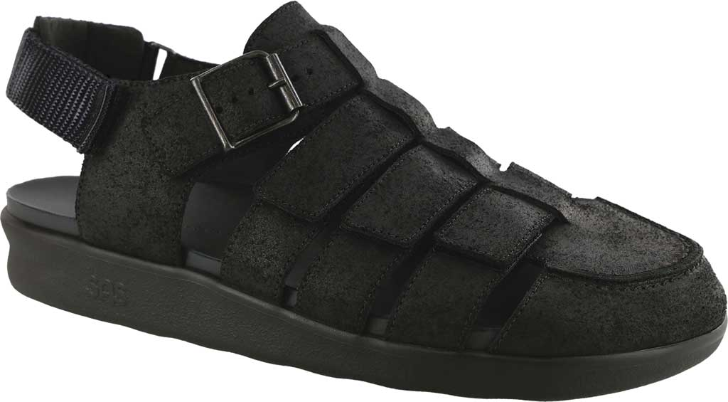 Men's SAS Endeavor Fisherman Sandal, Iron Leather, large, image 1