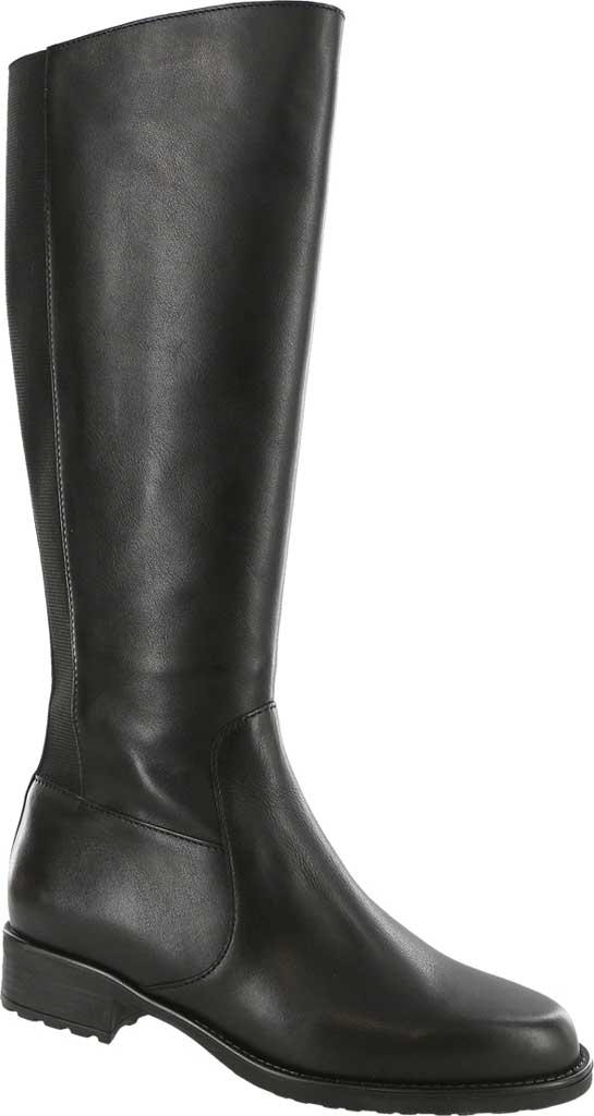 Women's SAS Duchess Knee High Boot, Black Smooth Italian Leather, large, image 1