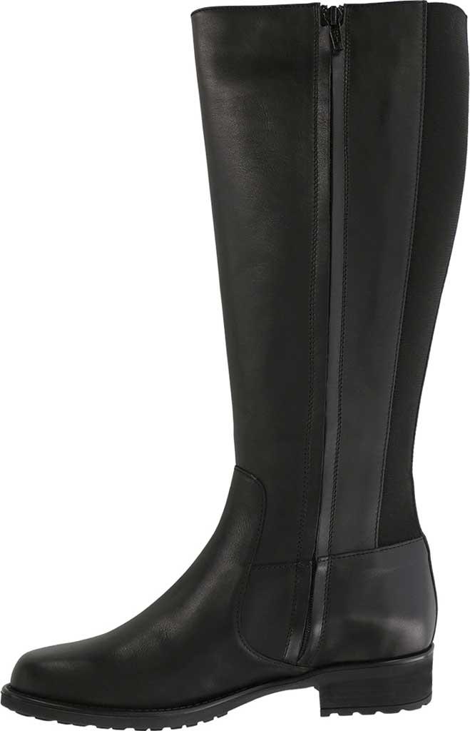 Women's SAS Duchess Knee High Boot, Black Smooth Italian Leather, large, image 2