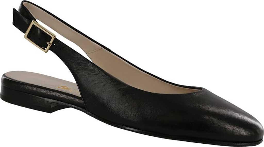 Women's SAS Chloe Slingback, Black Leather, large, image 1