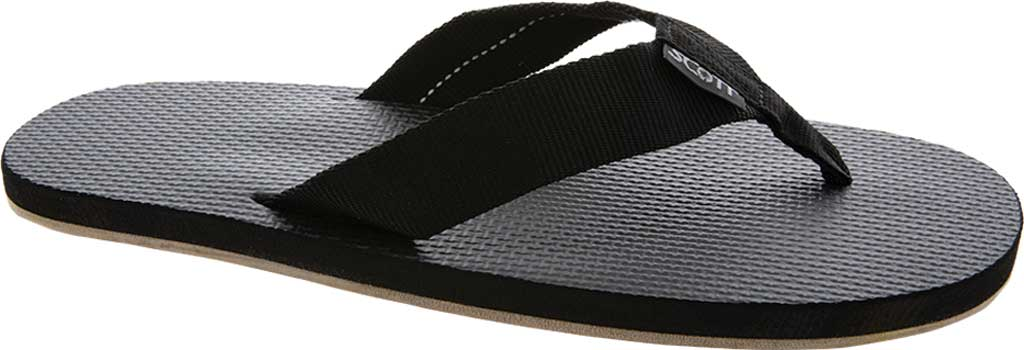 Men's Scott Hawaii Paha Flip Flop, Black, large, image 1