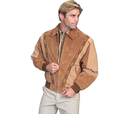 Men's Scully Two-Toned Boar Suede Rodeo Jacket 62, , large, image 1