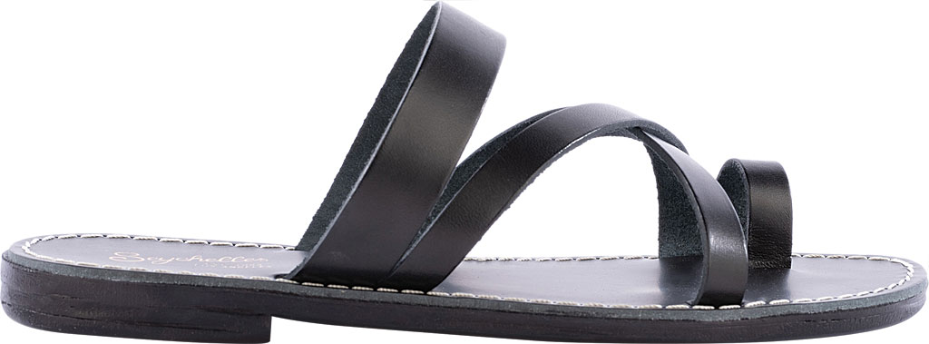Women's Seychelles So Precious Toe Loop Sandal, Black Leather, large, image 2