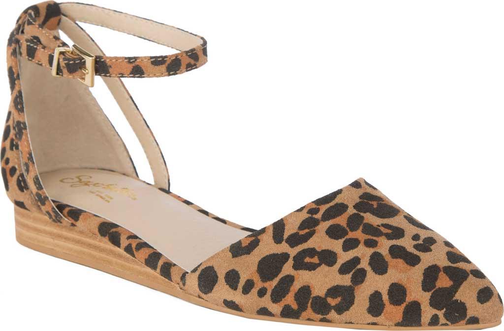 Women's Seychelles Plateau Ankle Strap Sandal, Leopard Suede, large, image 1