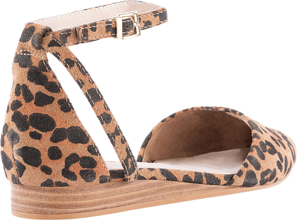 Women's Seychelles Plateau Ankle Strap Sandal, Leopard Suede, large, image 3