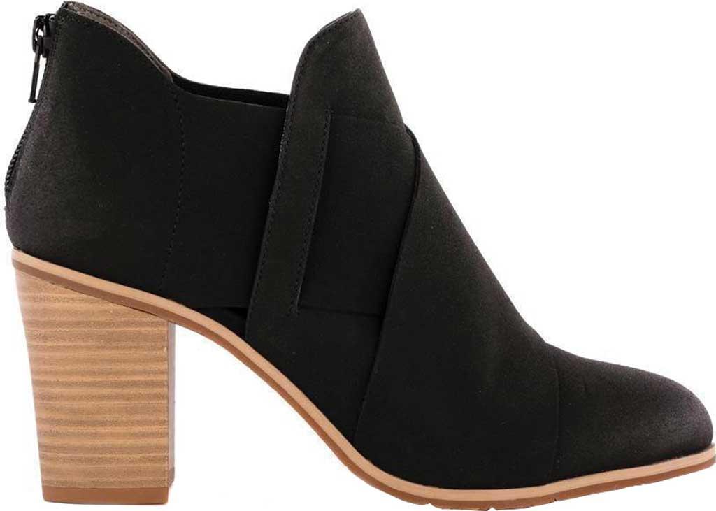 Women's BC Footwear Azalea Ankle Bootie, Black Vegan Nubuck, large, image 2