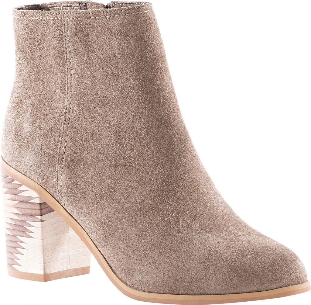 Women's Seychelles Grand Finale Ankle Bootie, Taupe Suede, large, image 1