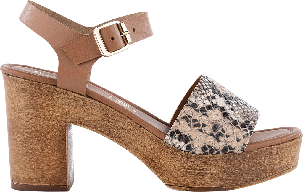 Women's Seychelles Jump For Joy Platform Sandal, Beige/Tan Python Leather, large, image 2
