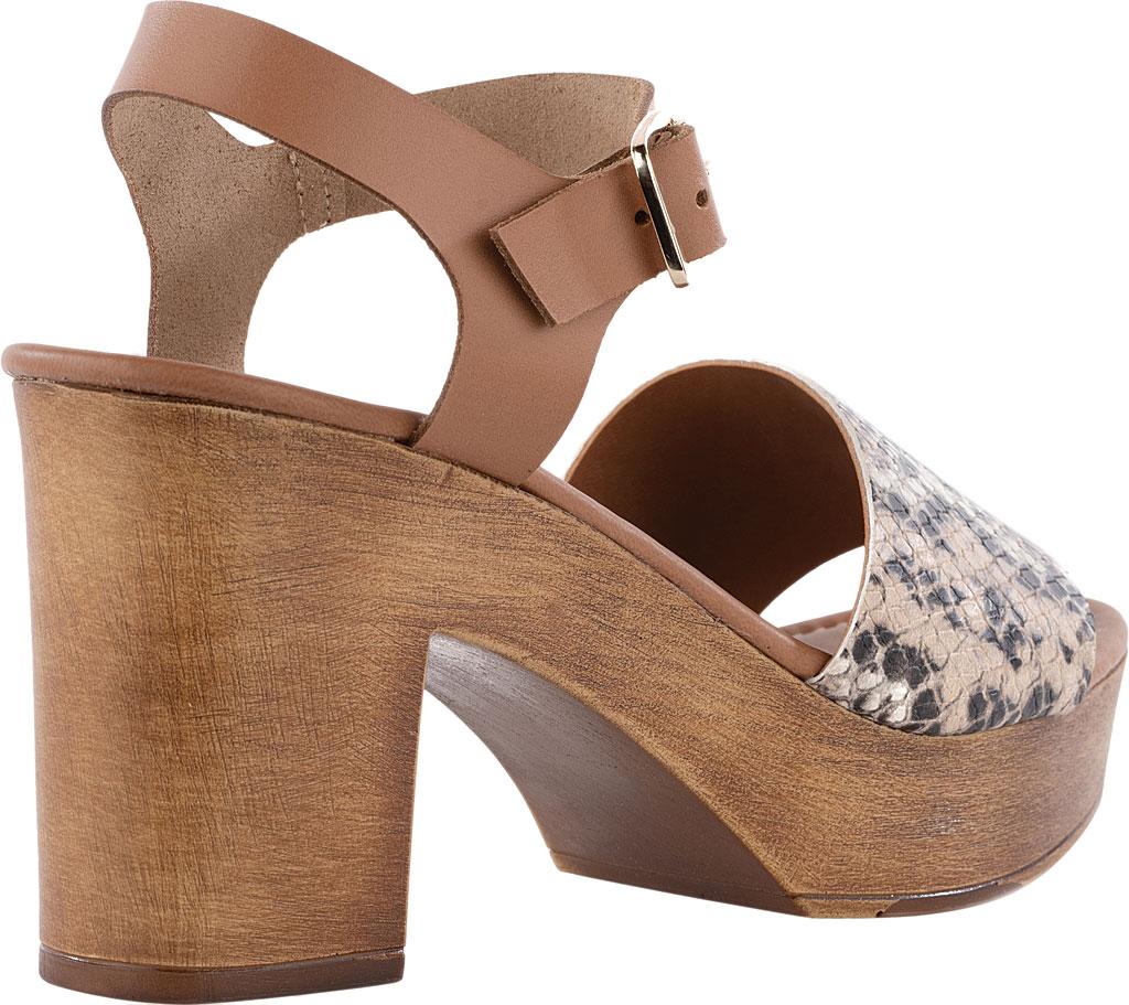 Women's Seychelles Jump For Joy Platform Sandal, Beige/Tan Python Leather, large, image 3