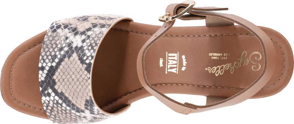 Women's Seychelles Jump For Joy Platform Sandal, Beige/Tan Python Leather, large, image 4