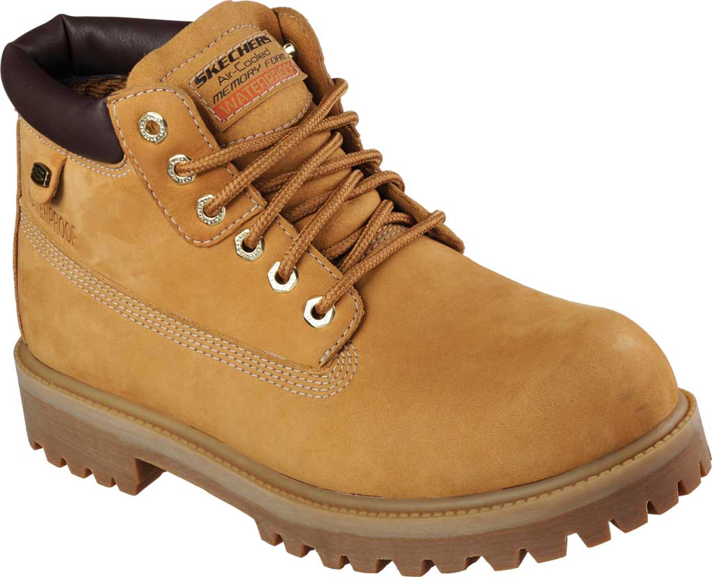 Men's Skechers Sergeants Verdict Rugged Ankle Boot, Wheat, large, image 1