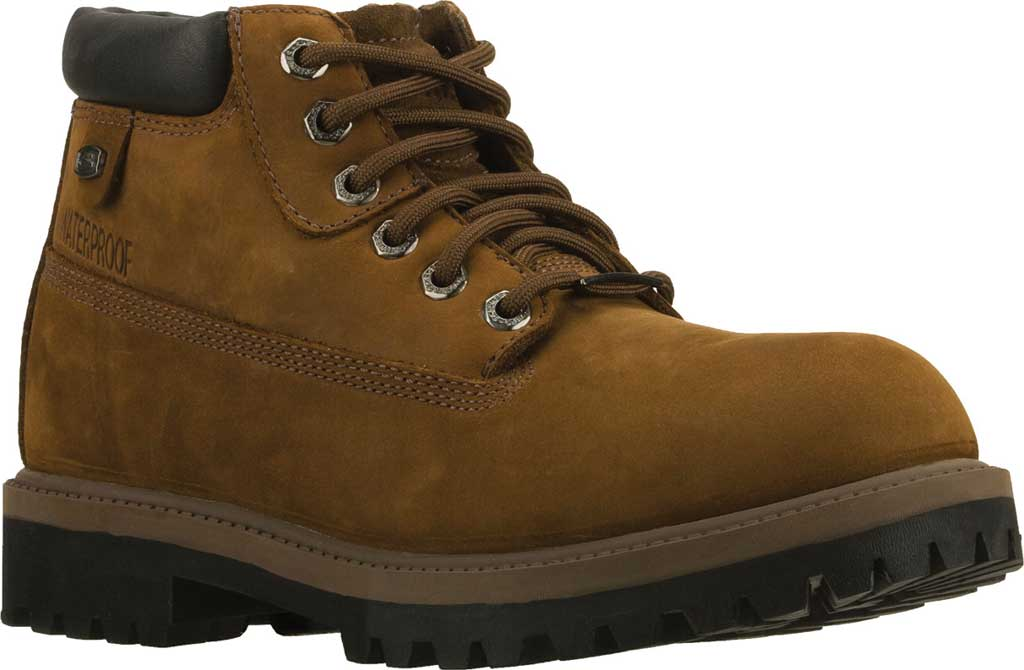 Men's Skechers Sergeants Verdict Rugged Ankle Boot, Dark Brown Waterproof Crazyhorse Leather, large, image 1