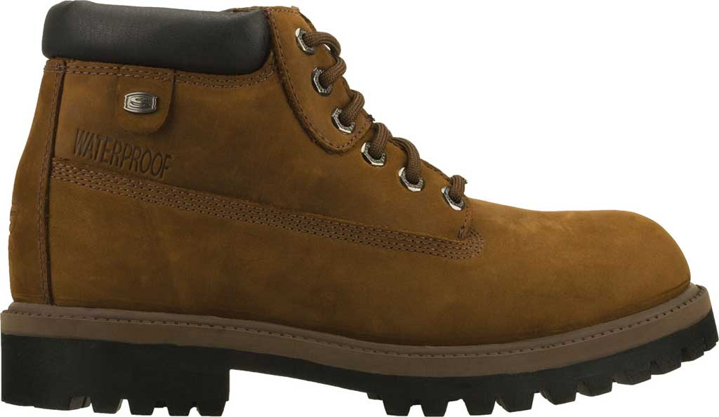 Men's Skechers Sergeants Verdict Rugged Ankle Boot, Dark Brown Waterproof Crazyhorse Leather, large, image 2