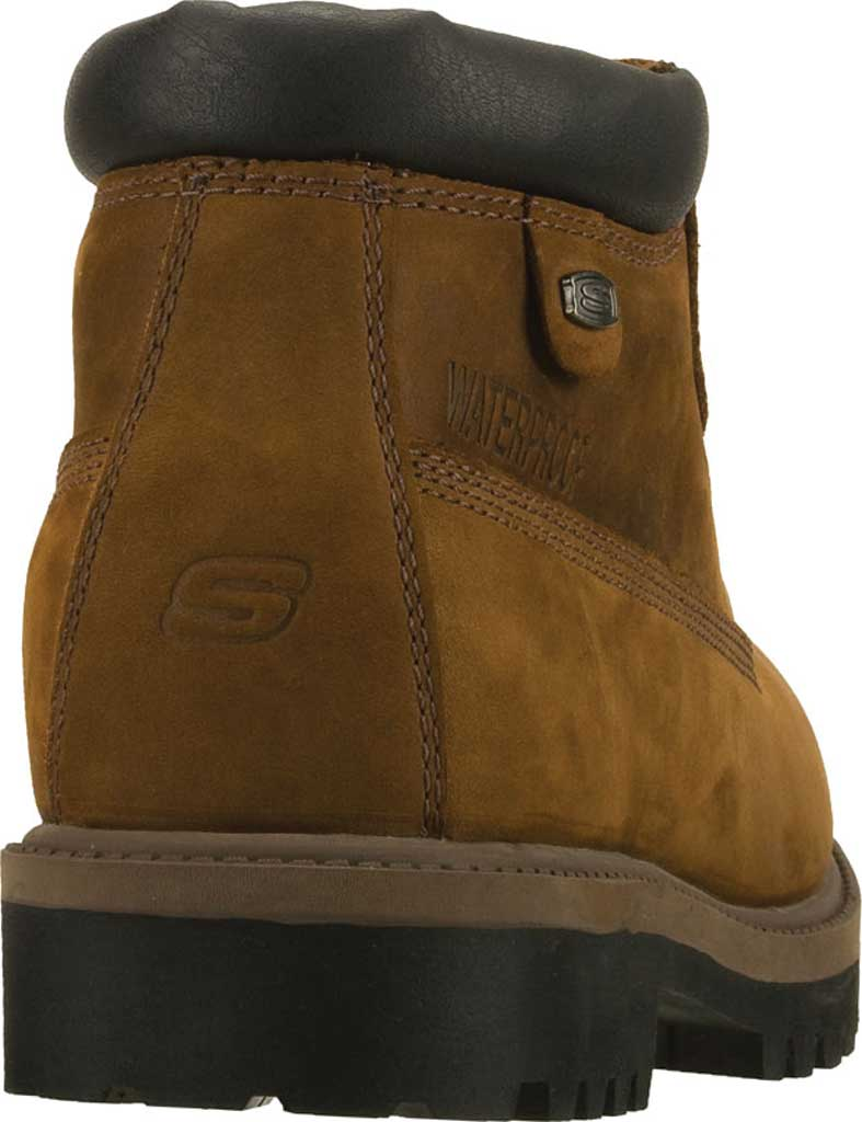 Men's Skechers Sergeants Verdict Rugged Ankle Boot, Dark Brown Waterproof Crazyhorse Leather, large, image 4