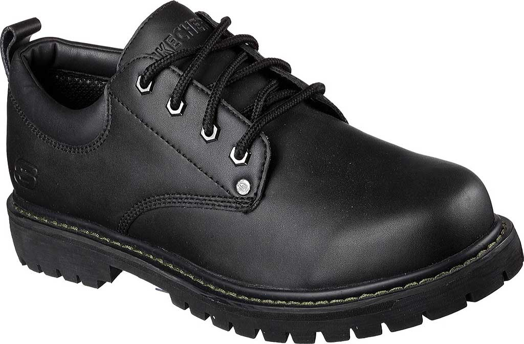 Men's Skechers Tom Cats Oxford, Black Oily Leather, large, image 1