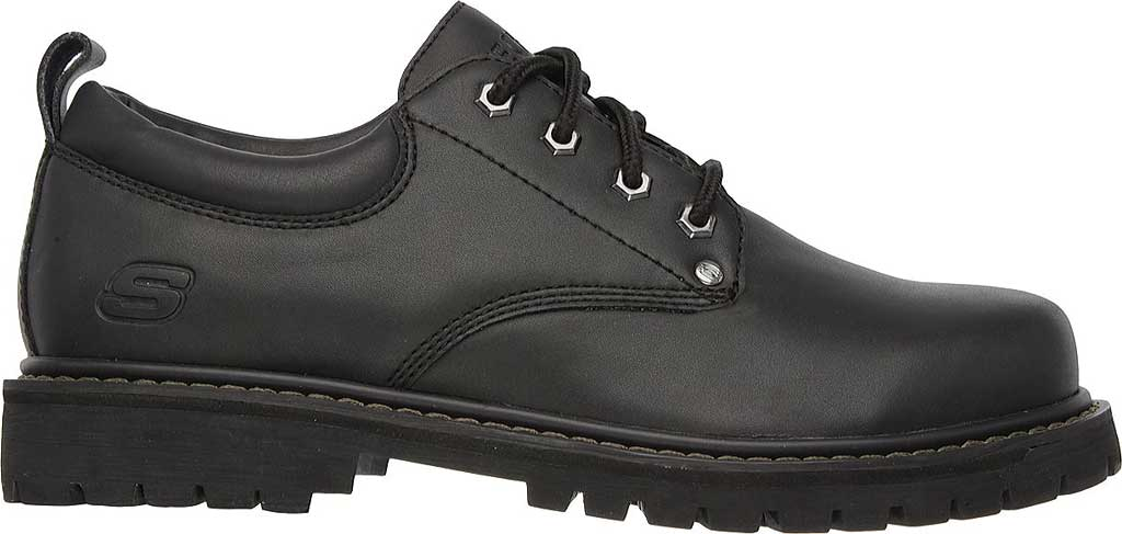 Men's Skechers Tom Cats Oxford, Black Oily Leather, large, image 2