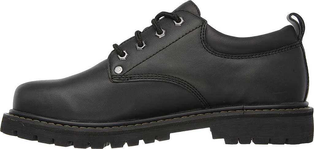 Men's Skechers Tom Cats Oxford, Black Oily Leather, large, image 3