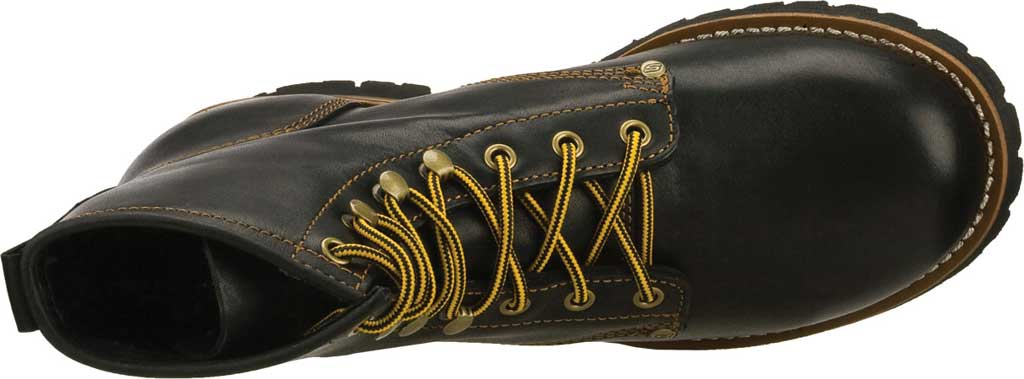 Men's Skechers Cascades, Black Oily Leather (BOL), large, image 5