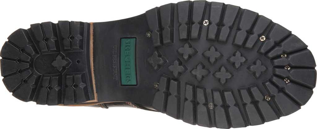 Men's Skechers Cascades, Black Oily Leather (BOL), large, image 6