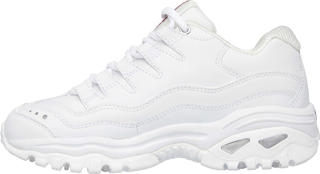 Women's Skechers Energy Sneaker, White Leather/Silver Trim (WML), large, image 3