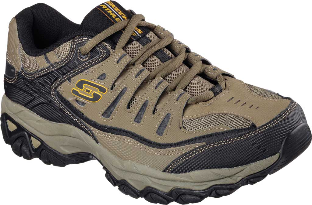Men's Skechers After Burn Memory Fit Cross Training Shoe, Pebble/Black, large, image 1