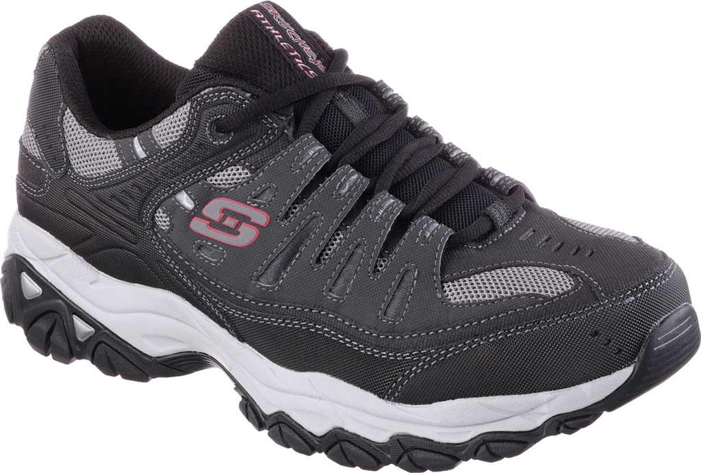 Men's Skechers After Burn Memory Fit Cross Training Shoe, Gray/Black, large, image 1