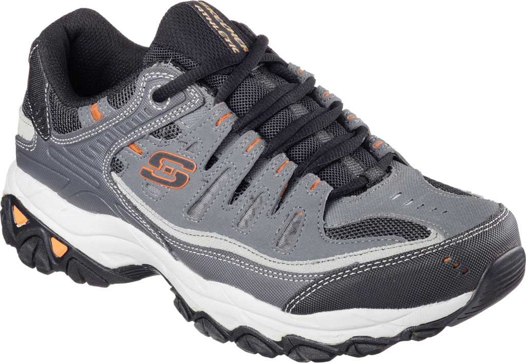 Men's Skechers After Burn Memory Fit Cross Trainer, Charcoal/Gray, large, image 1