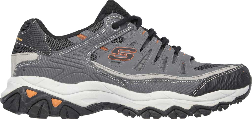 Men's Skechers After Burn Memory Fit Cross Trainer, Charcoal/Gray, large, image 2