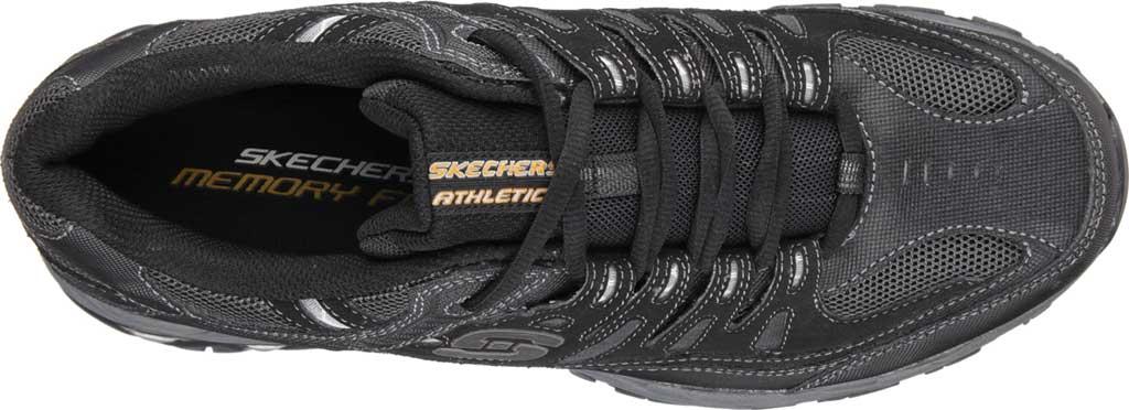 Men's Skechers After Burn Memory Fit Cross Trainer, Black/Charcoal, large, image 5