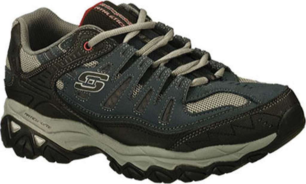 Men's Skechers After Burn Memory Fit Cross Training Shoe, Brown/Taupe, large, image 1