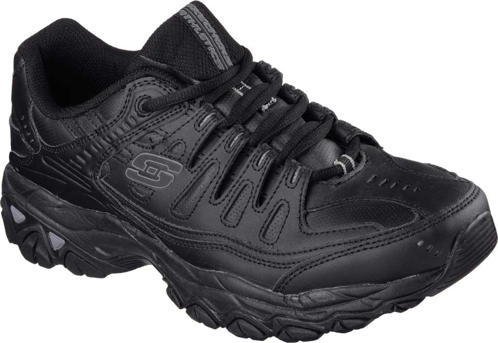 Men's Skechers After Burn Memory Fit Reprint Training Shoe, Black, large, image 1