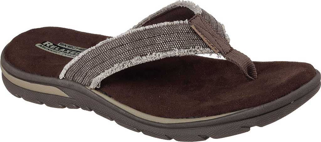 Men's Skechers Relaxed Fit Supreme Bosnia, Chocolate, large, image 1