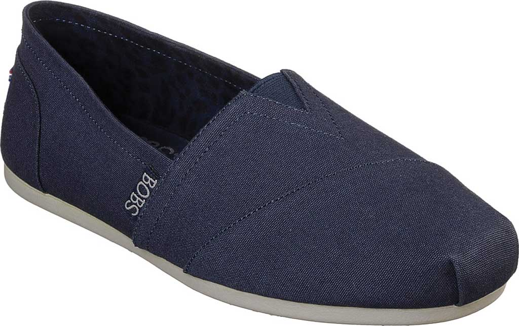 Women's Skechers BOBS Plush Peace and Love, Dark Navy, large, image 1