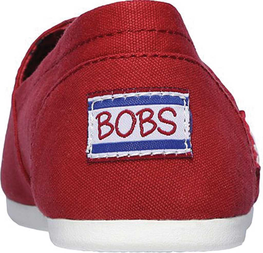 Women's Skechers BOBS Plush Peace and Love, Dark Red, large, image 4